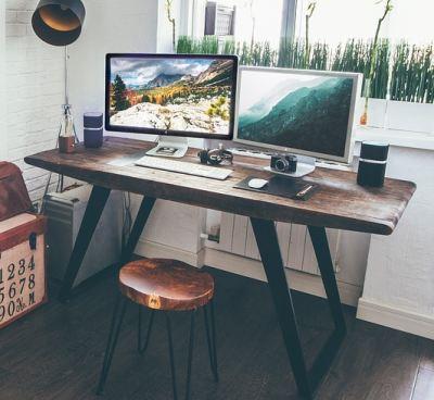 Retro Vollholz Schreibtisch