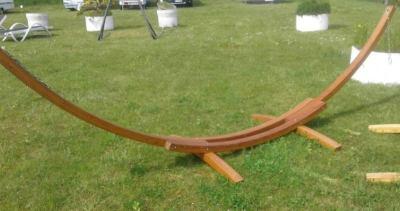 Hängematte mit Gestell Holzgestell