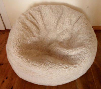 Sitzsack mit Fell